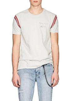 "Ksubi Men's ""No Guilt"" Distressed Cotton T-Shirt"