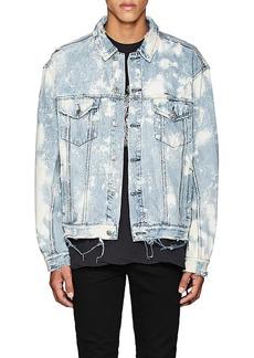Ksubi Men's Oversized Bleached Denim Jacket