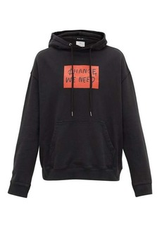Ksubi Printed cotton-jersey hooded sweatshirt