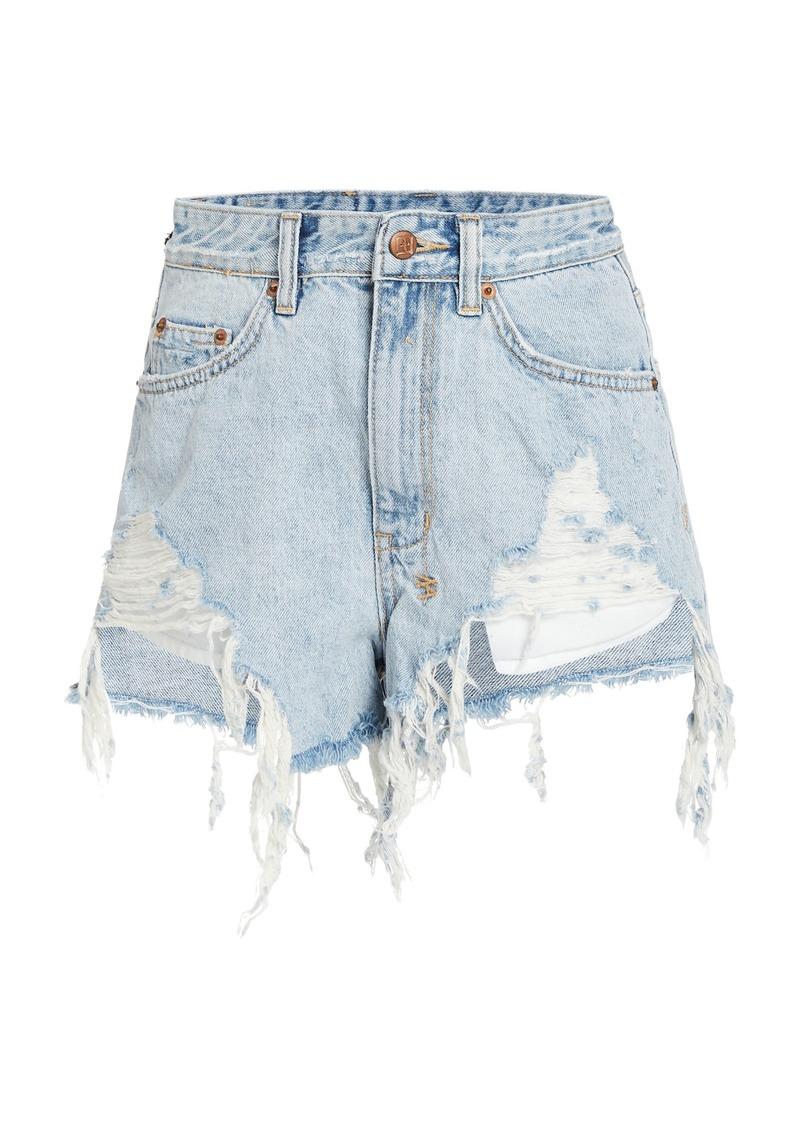 Ksubi Rise N Hi Distressed Denim Shorts