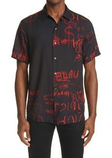 Ksubi Scribbles Short Sleeve Button-Up Shirt