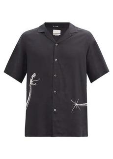 Ksubi Snake-print twill shirt