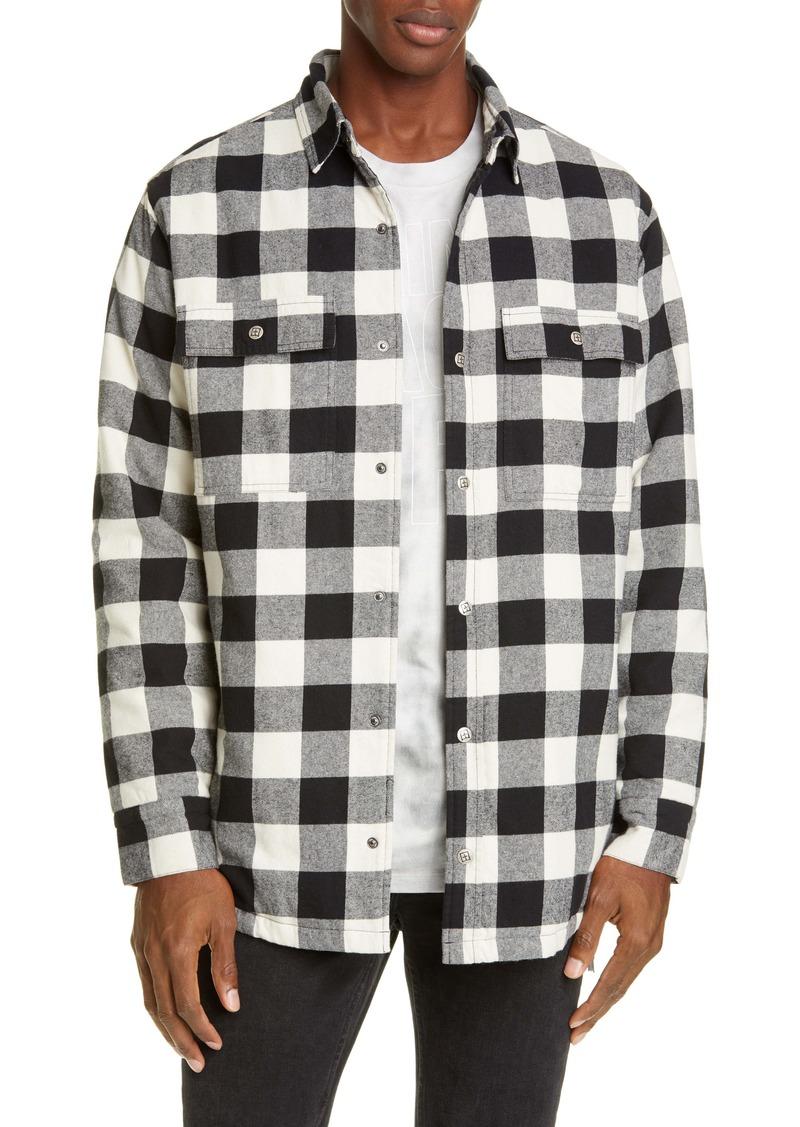 Ksubi Snap-Up Flannel Shirt Jacket