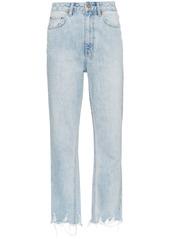 Ksubi ksubi straight leg cropped jeans   blue abv4a1967eb a
