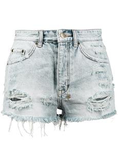 Ksubi Tongue n Cheek High Rise Denim Shorts - Blue