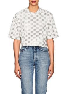 """Ksubi Women's """"Fake"""" Cotton Crop T-Shirt"""