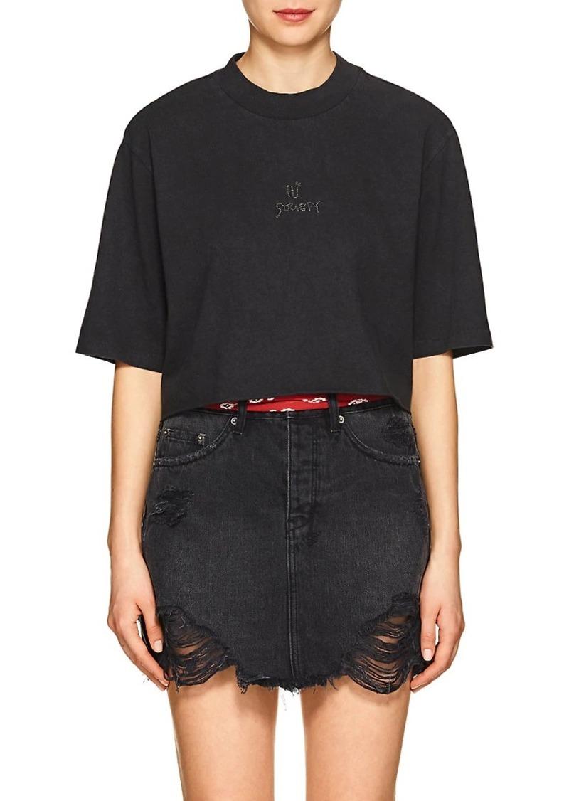 "Ksubi Women's ""Hi Society"" Cotton Crop T-Shirt"