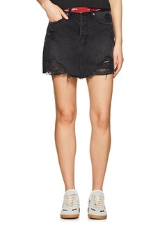 Ksubi Women's Moss Distressed Denim Miniskirt