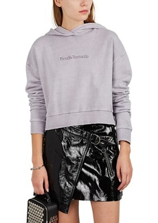 "Ksubi Women's ""Pseudo Romantic"" Cotton Crop Hoodie"