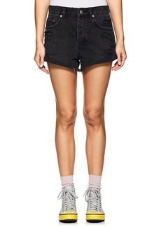 Ksubi Women's Roll'n Out Distressed Denim Shorts