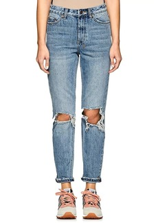 Ksubi Women's Slim Pin Distressed Jeans