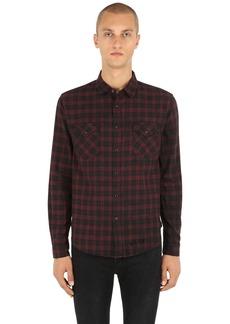 Ksubi Malcolm Plaid Cotton Herringbone Shirt