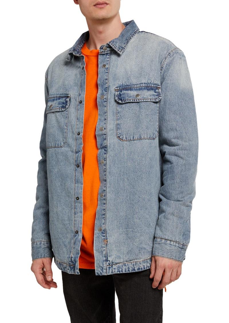 Ksubi Men's Anti-Shirt Skream Denim Shirt Jacket