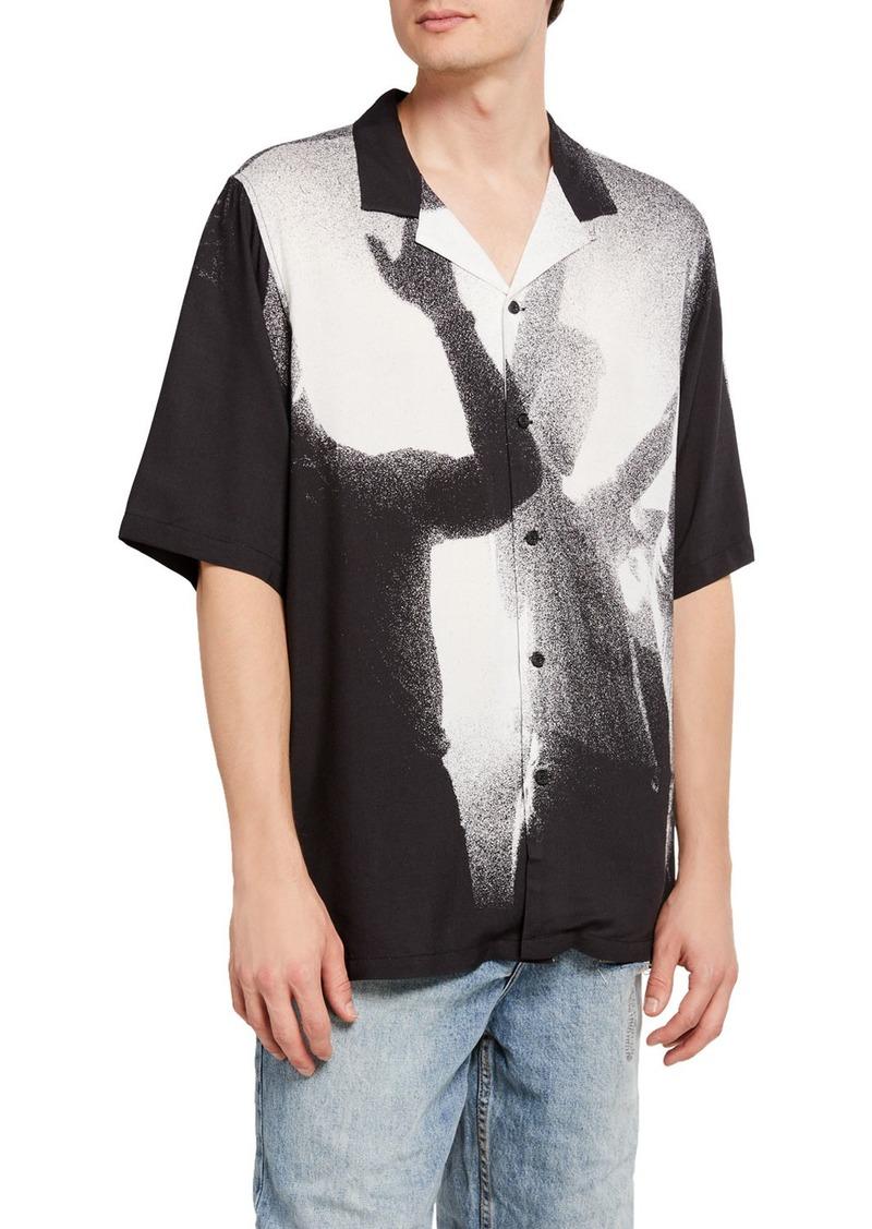 Ksubi Men's Dancers Resort Printed Sport Shirt