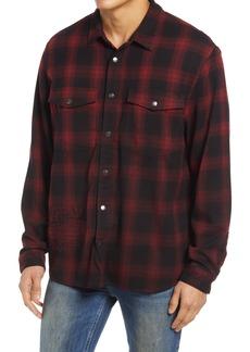 Men's Ksubi Consciousness Plaid Snap Front Shirt