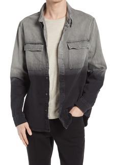 Men's Ksubi Snakebite Regular Fit Dip Dye Denim Button-Up Shirt