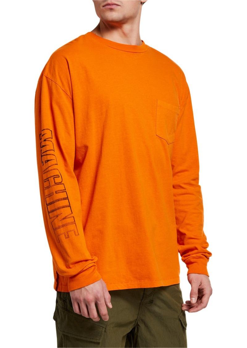 Ksubi Men's Machine Graphic Long-Sleeve Pocket T-Shirt