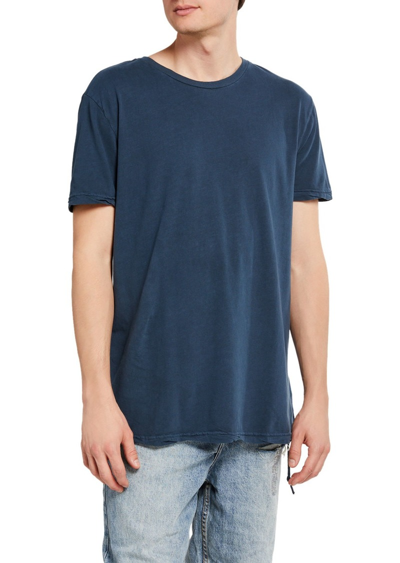Ksubi Men's Seeing Lines Solid Cotton T-Shirt
