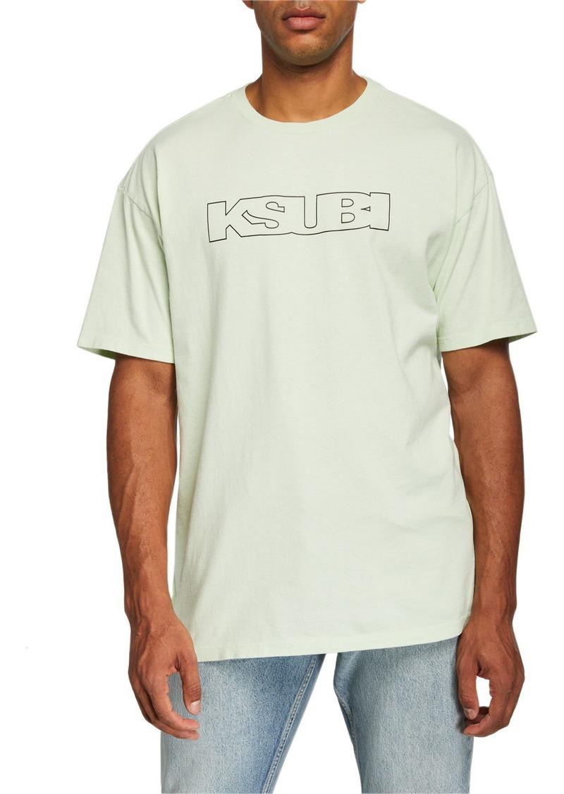 Ksubi Men's Sign of the Times Typographic Oversized T-Shirt