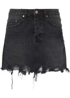 Ksubi Mini Moss distressed denim mini skirt