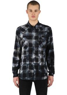 Ksubi Mosh Indigo Check Cotton Shirt