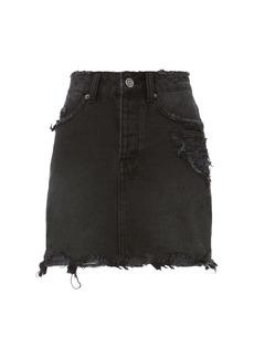Ksubi Moss Distressed Mini Skirt