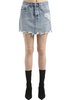 Ksubi Moss Super Freak Denim Mini Skirt