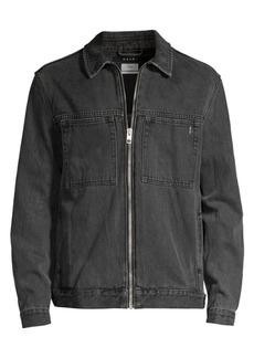 b0bc4a6497e2 Ksubi Opposite of Opposite Werker Zip Front Denim Jacket