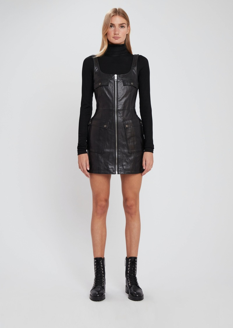 Phantom Leather Mini Dress