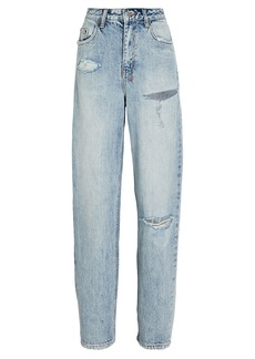 Ksubi Playback Distressed Straight-Leg Jeans