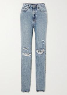 Ksubi Playback Vibez Trashed Distressed High-rise Jeans