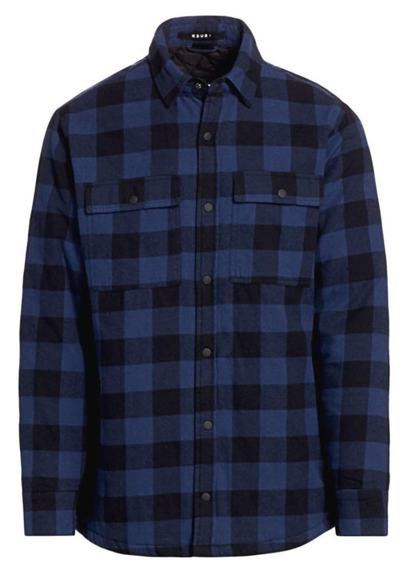 Ksubi Quilted Check Brushed Cotton Shirt