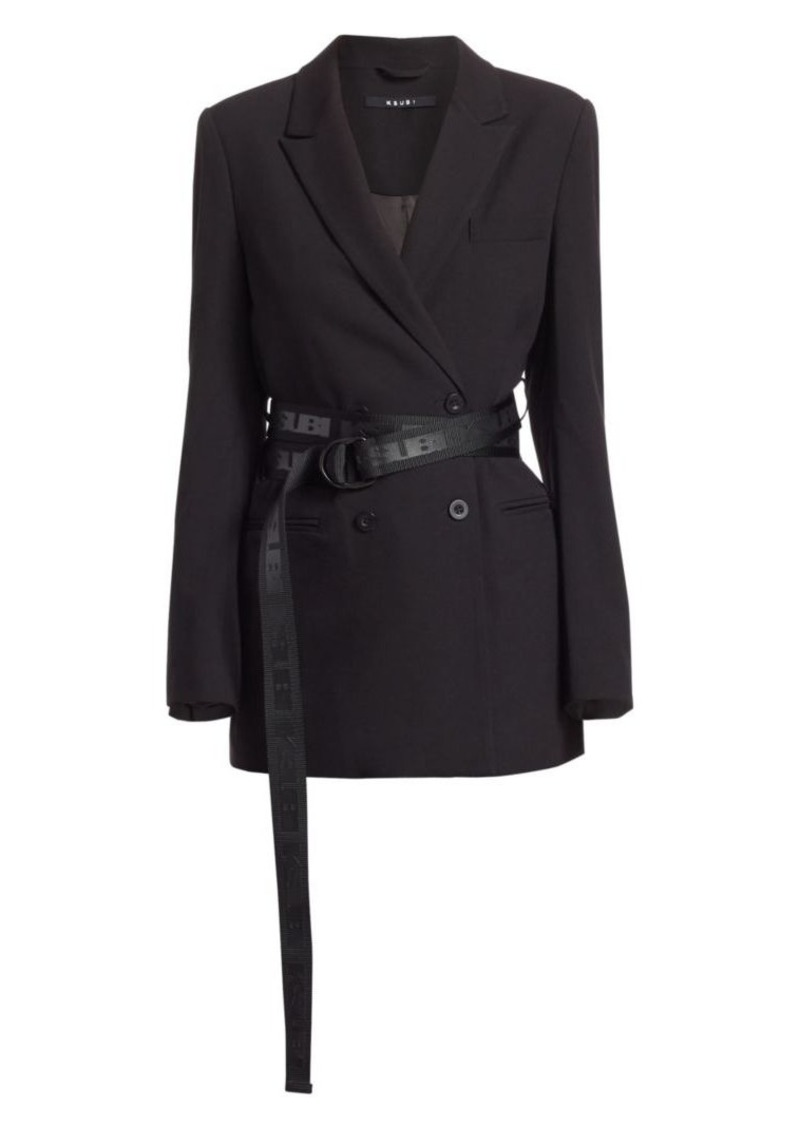 Sign of the Times Racy Belted Blazer Jacket