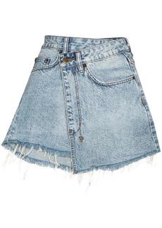 Ksubi Rap asymmetric denim mini skirt