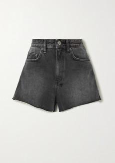 Ksubi Rise N Hi Frayed Denim Shorts