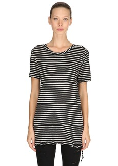 Ksubi Sinister Striped Cotton Jersey T-shirt