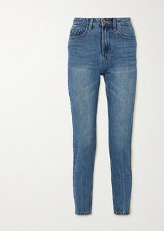 Ksubi Slim Pin Cropped High-rise Slim-fit Jeans
