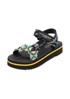 Kurt Geiger 40mm Embellished Nylon Sandals