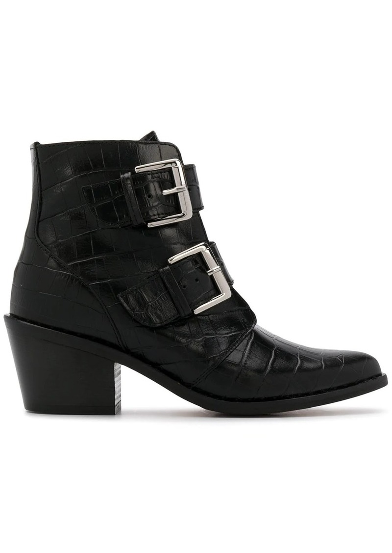 Denny printed boots