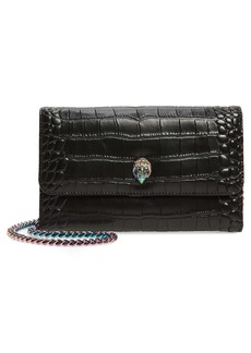 Kurt Geiger Kensington Croc Embossed Leather Wallet on a Chain