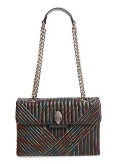 Kurt Geiger London 690 Kensington Rainbow Stitch Leather Shoulder Bag