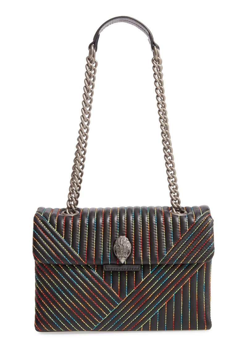 Kurt Geiger London 690 Kensington Rainbow Stitch Leather Shoulder Bag
