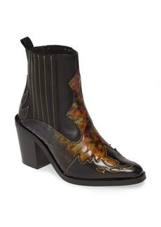 Kurt Geiger London Damen Snakeskin Embossed Leather Chelsea Boot (Women)