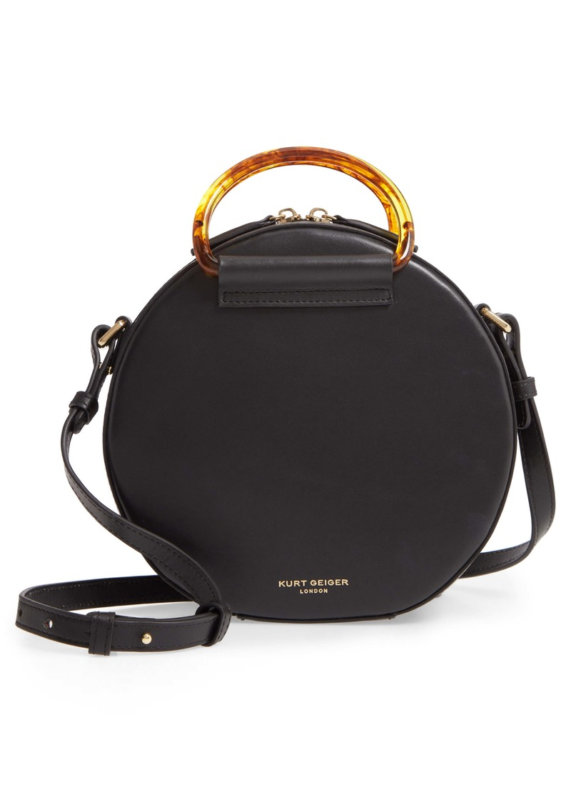 Kurt Geiger London Harriet Eagle Leather Round Crossbody Bag