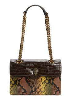 Kurt Geiger London Kensington Crocodile & Python Embossed Leather Crossbody Bag