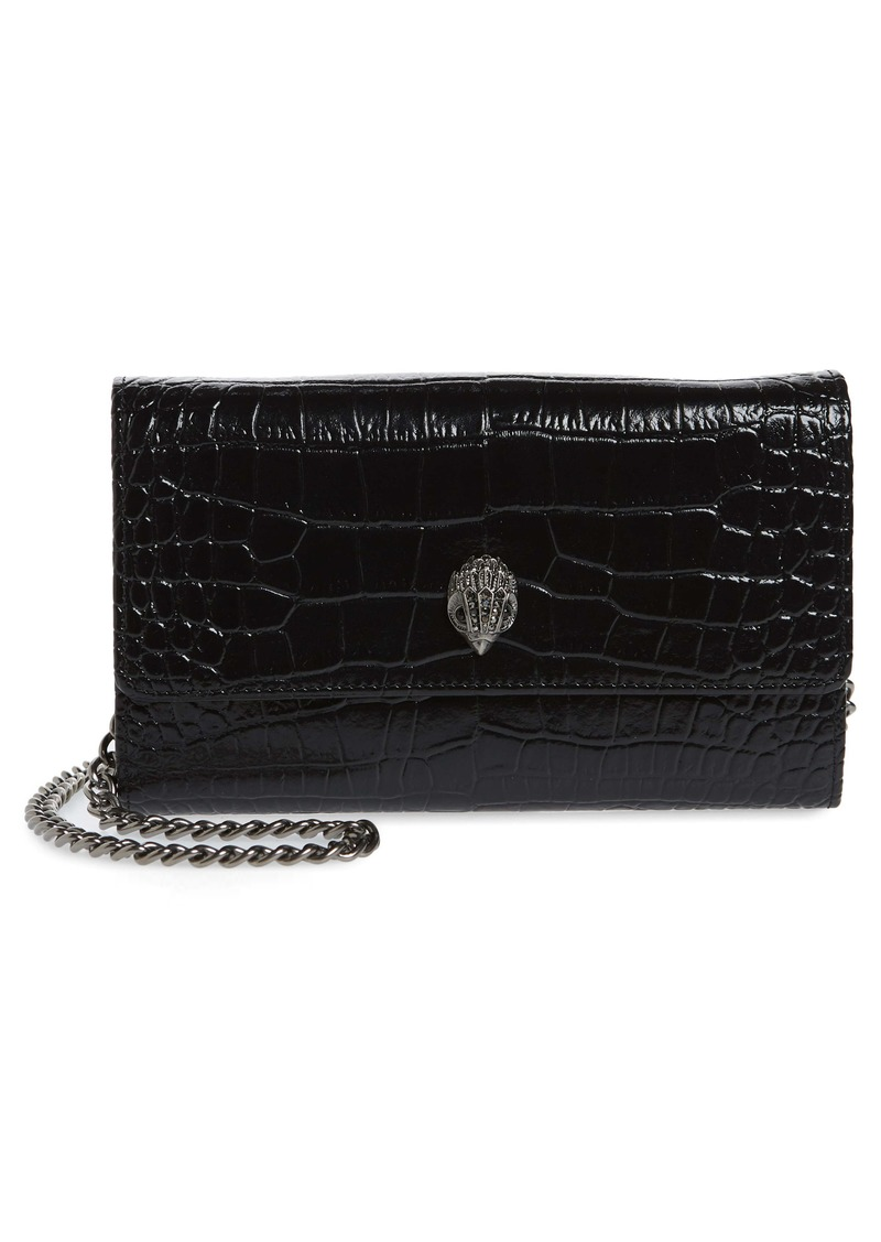 Kurt Geiger London Kensington Leather Wallet on a Chain