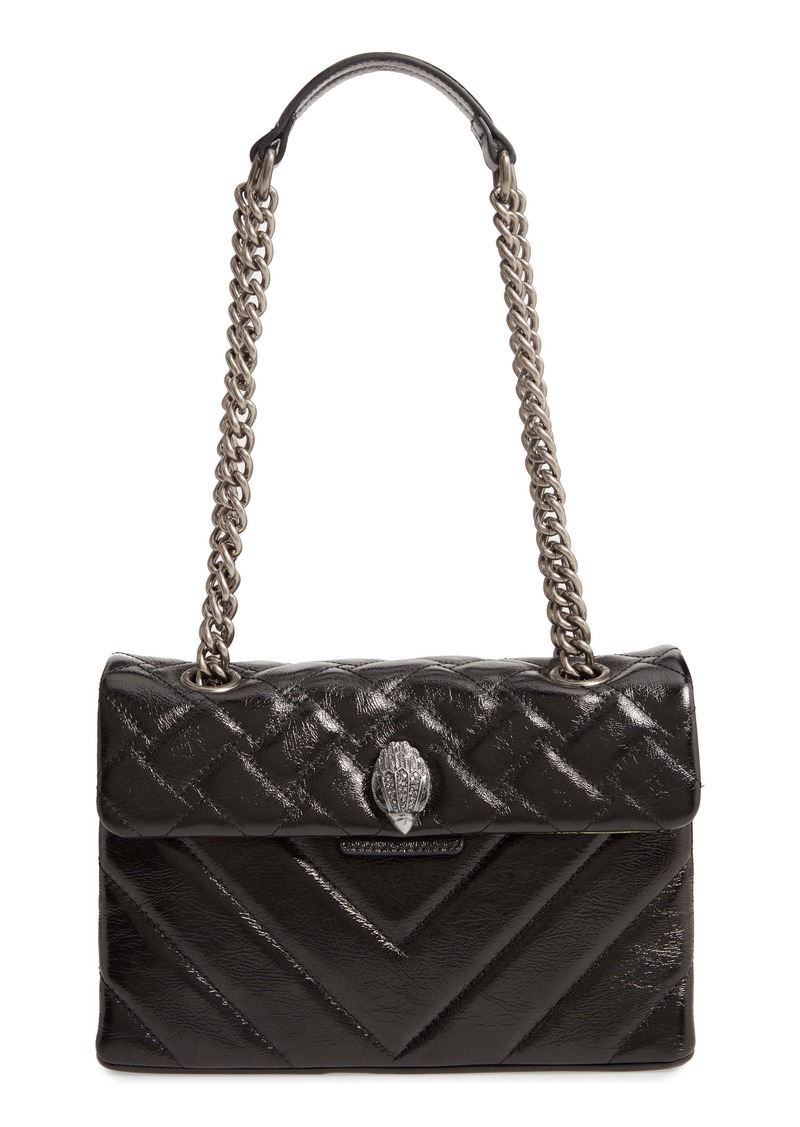 Kurt Geiger London Kensington Patent Leather Shoulder Bag