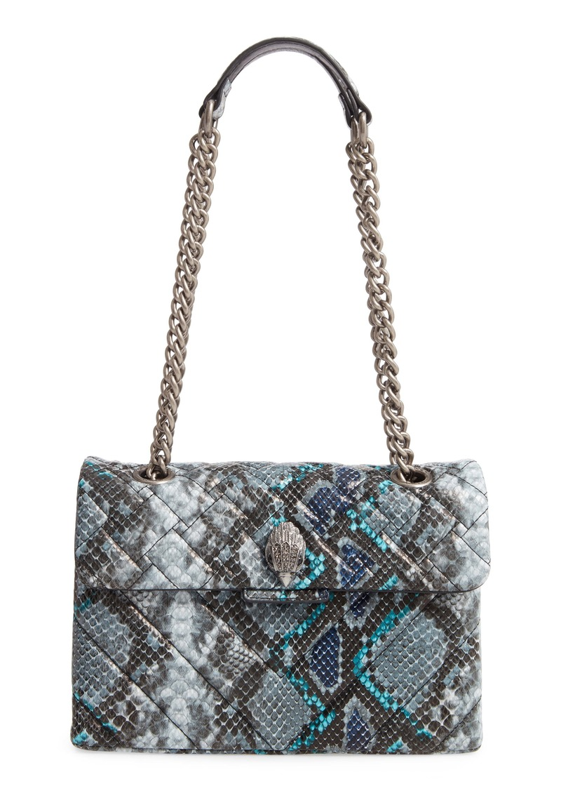 Kurt Geiger London Kensington Quilted Snake Embossed Leather Shoulder Bag
