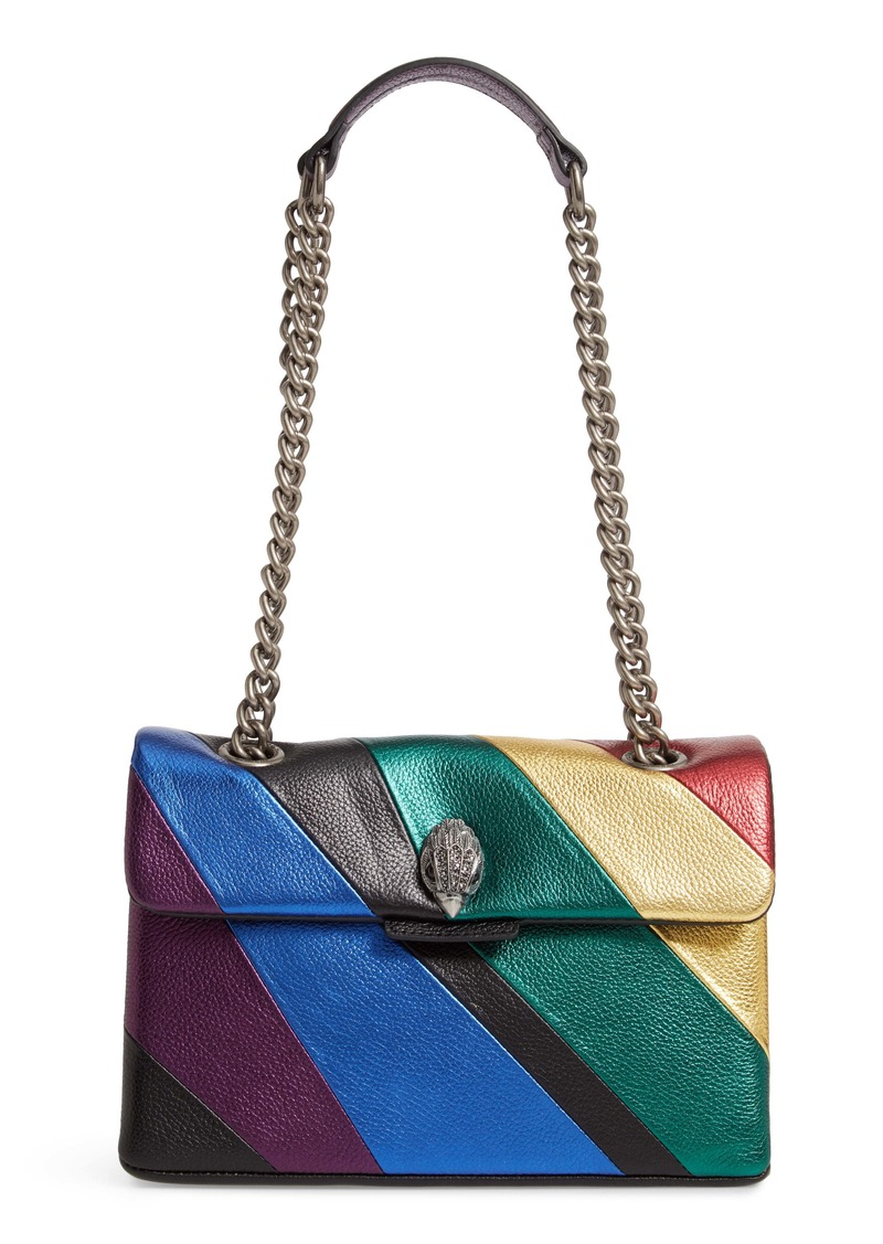 Kurt Geiger London Kensington Striped Leather Shoulder Bag
