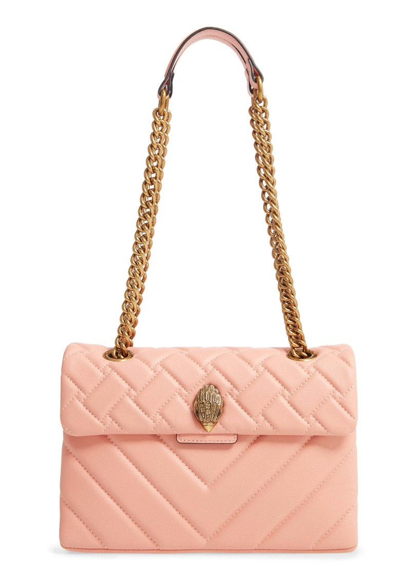 Kurt Geiger London Kensington X Quilted Leather Shoulder Bag